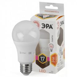 Лампы СВЕТОДИОДНЫЕ СТАНДАРТ LED A60-17W-827-E27  ЭРА (диод, груша, 17Вт, тепл, E27)