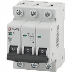 ЭРА Автоматический выключатель NO-902-119 ВА47-29 3P 20А кривая C (4/60/1260)