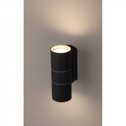 WL28 BK Подсветка ЭРА Декоративная подсветка 2*GU10 MAX35W IP54 черный (20/540)