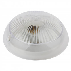 НБП 06-60-001 ЭРА Светильник Сириус поликарбонат IP54 E27 max 60Вт D220 КРУГ ПРИЗМА (5/175)