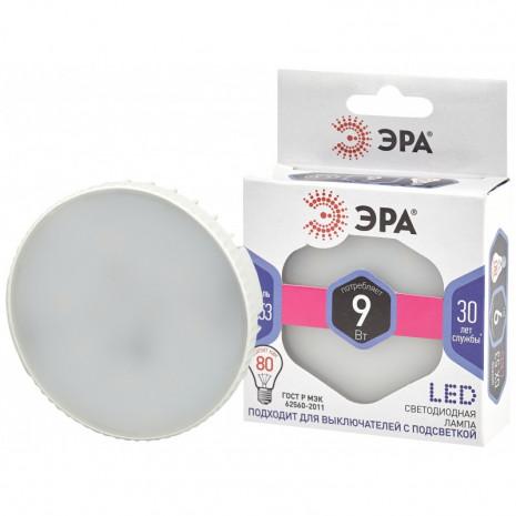 LED GX-9W-860-GX53 ЭРА (диод, таблетка, 9Вт, хол, GX53) (10/100/4200)