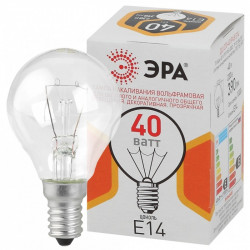 ЭРА ДШ (P45) шар 40Вт 230В Е14 цв. упаковка (100/4900)