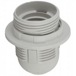 ЭРА Патрон Е27 с кольцом, пластик, белый (x50) (50/400/4800)