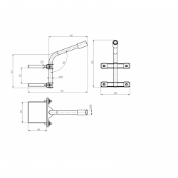 SPP-AC4-0-350-060 ЭРА Кронштейн на опору с 2 хомутами 625*460*280,   d 60 (6/48)