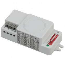 MD 204 Датчик движения ЭРА Датчик движения микроволновый белый, 500Вт, 360 гр.,8М,IP20, (100/2000)