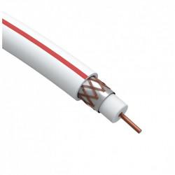 ЭРА Кабель коаксиальный SAT 50 М, 75 Ом, Cu/(оплётка Cu 75%), PVC, цвет белый, бухта 100 м (4/96)