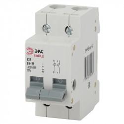 SIMPLE-mod-62 ЭРА SIMPLE Выключатель нагрузки 2P 63А ВН-29 (6/90/2520)