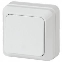 2Э-101-01 Intro Выключатель, 10А-250В, ОУ, б.м.п., Quadro, белый (10/200/3600)