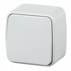 3-101-01 Intro Выключатель, 10А-250В, IP20, ОУ, Polo, белый (18/360/4320)